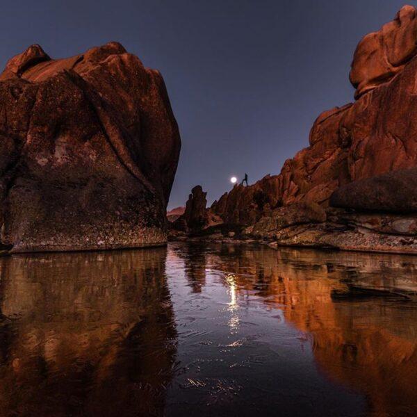 La lagunilla del Yelmo por la noche